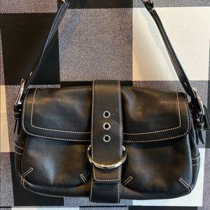 Authentic Coach black leather women's handbag